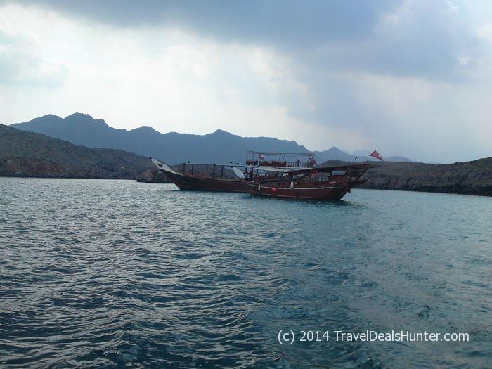 Oman - Musandhab - Khasab dhow fjord cruise - Seebi Island swimming stop